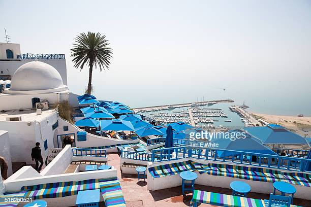 sidi bou said, carthago, tunis, tunisia - tunis stock pictures, royalty-free photos & images