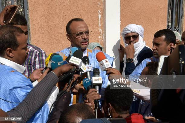 Sidi Mohamed Ould Boubacar , former prime minister, head of the transition executive and candidate for the presidential election supported by the...