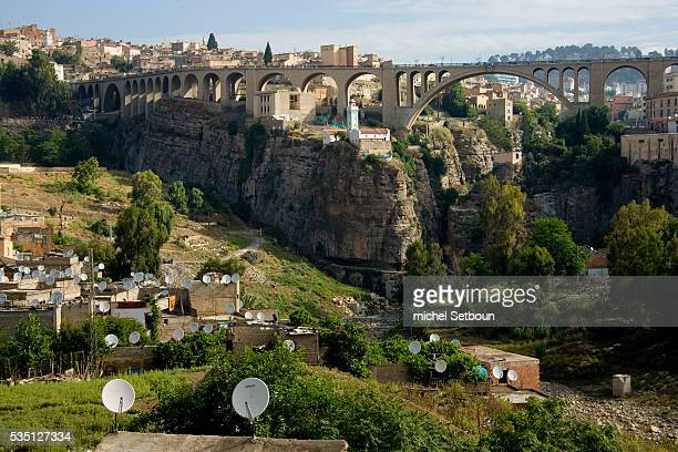 Sidi Rashed bridge and Marabout Mosque overlook the Rhumel Gorge.