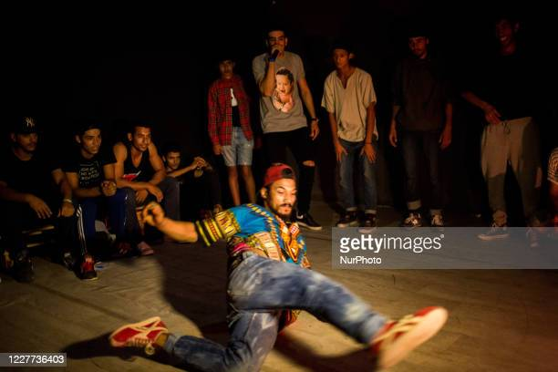 Sidi-Bouzid, Tunisia, 30 October 2016. Nidhal takes a breakdance during an improvised evening.