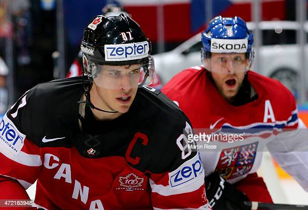 Sidney Crosby of Canada skates against Czech Republic during the IIHF World Championship group A match between Canada and Czecg Republic at o2 Arena...