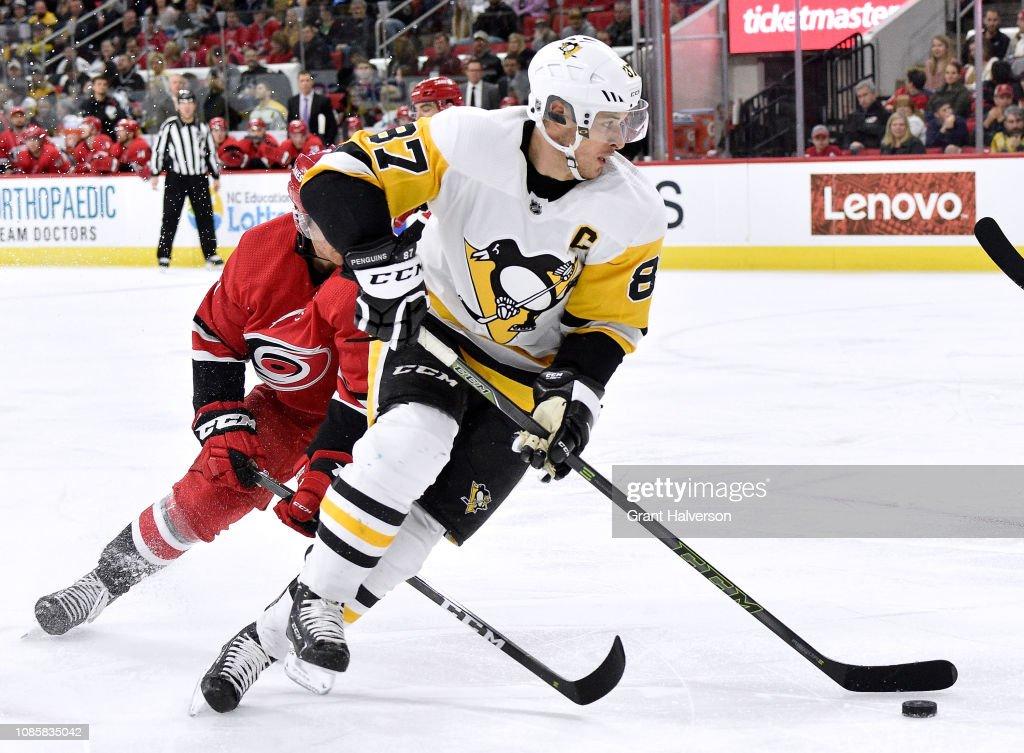 Pittsburgh Penguins v Carolina Hurricanes : News Photo