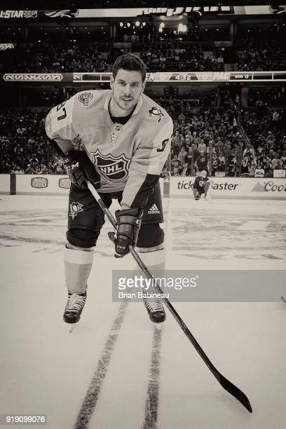 TAMPA FL JANUARY 28 Sidney Crosby of the Pittsburgh Penguins poses for a photo at the 2018 Honda NHL AllStar Game at Amalie Arena on January 28 2018...