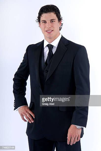 Sidney Crosby of the Pittsburgh Penguins poses for a portrait backstage during the 2007 NHL Awards at the Elgin Theatre on June 14, 2007 in Toronto,...