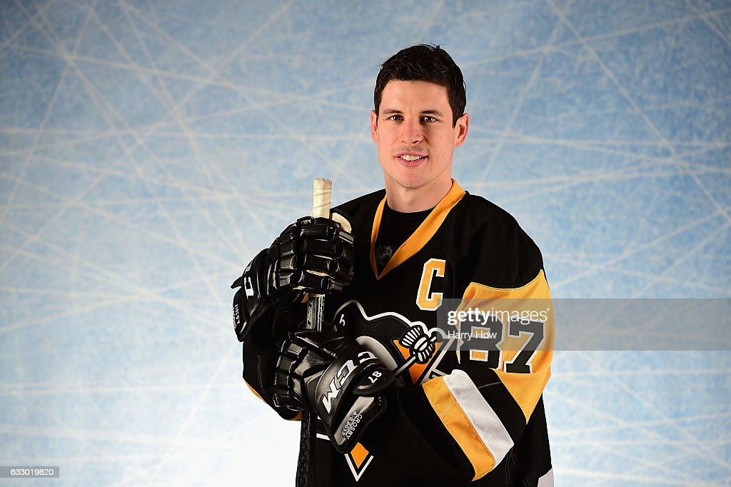Sidney Crosby #87 of the Pittsburgh Penguins poses for a portrait prior to the 2017 Honda NHL All-Star Game at Staples Center on January 29, 2017 in Los Angeles, California.