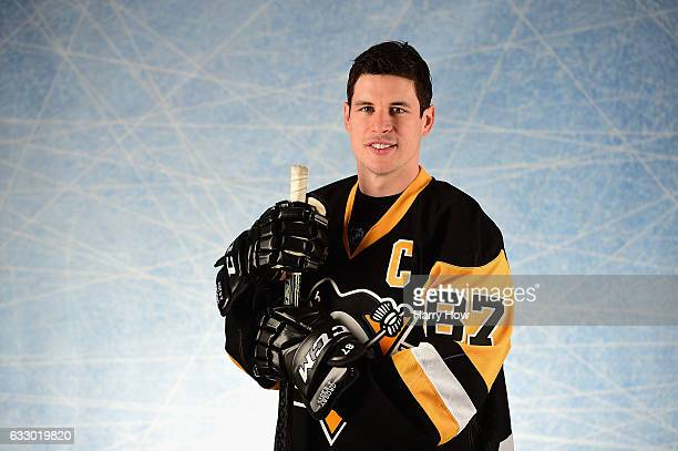 Sidney Crosby of the Pittsburgh Penguins poses for a portrait prior to the 2017 Honda NHL AllStar Game at Staples Center on January 29 2017 in Los...