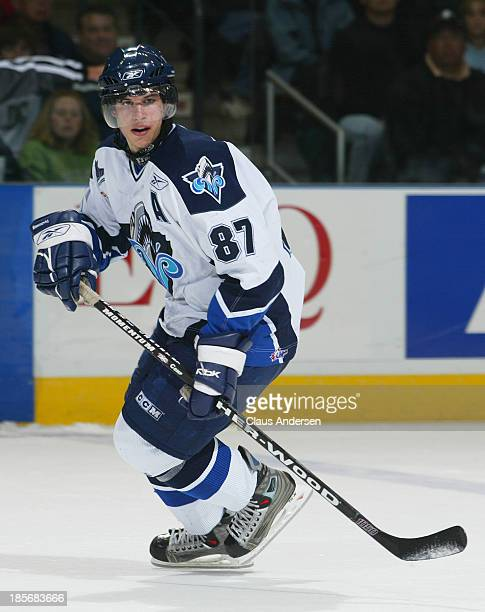 Sidney Crosby of the Rimouski Oceanic skates during the 2005 Mastercard Memorial Cup Tournament on May 22-29, 2005 in London, Ontario, Canada.