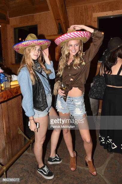 Sidney Curley and Emma Atterholm attend Hearst Castle Preservation Foundation Annual Benefit Weekend 'Hearst Ranch Patron Cowboy Cookout' at Hearst...