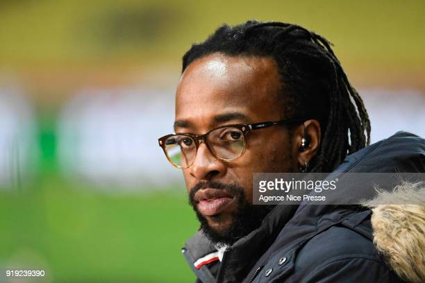 Sidney Govou former french soccer player during the Ligue 1 match between AS Monaco and Dijon FCO at Stade Louis II on February 16 2018 in Monaco