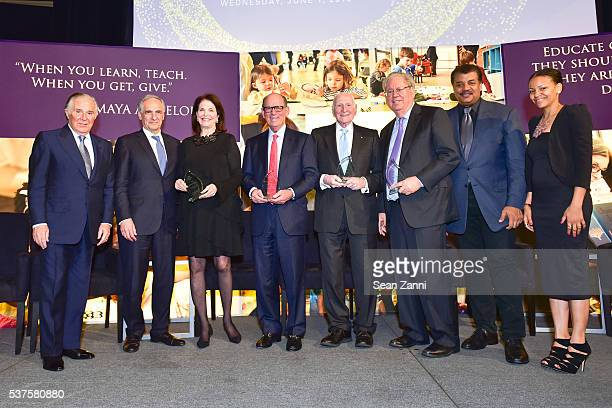 Sidney Kimmel Dr Robert Zimmer Sherry Lansing Joseph Neubauer Daniel Rose George Weiss Neil deGrasse Tyson and Nekia Rosado attend National Museum of...