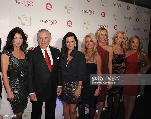 Sidney Kimmel Founder and Chairman of Jones Apparel Group poses with TV personalities Lisa VenderPump Kyle Richards Kim Richards Taylor Armstrong...