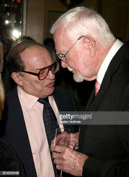 Sidney Lumet and Frank Pierson Attending a New York celebration in anticipation of director Sidney Lumet's Honorary Academy Award which will be...