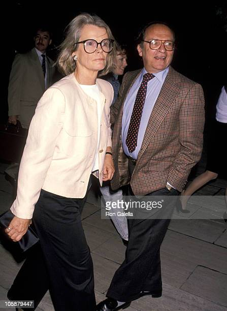 Sidney Lumet and Wife Mary Gimble during Screening of 'Milou in May' June 12 1990 at Paris Theater in New York City New York United States