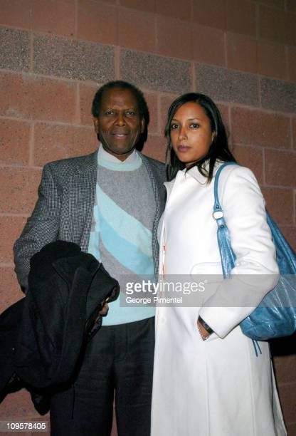 Sidney Poitier and Anika Poitier during 2005 Sundance Film Festival Nine Lives Premiere at Eccles Theatre in Park City Utah United States