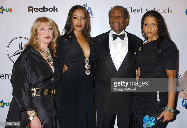 Sidney Poitier and family during Mercedes Benz Presents the 16th Annual Carousel Of Hope Gala Arrivals at Beverly Hilton Hotel in Beverly Hills...