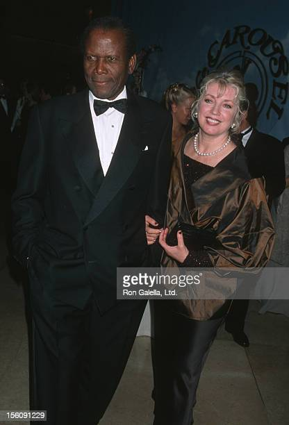 Sidney Poitier and Joanna Shimkus during 14th Carousel of Hope Ball for Barbara Davis Center for Diabetes at Beverly Hills Hilton Hotel in Beverly...