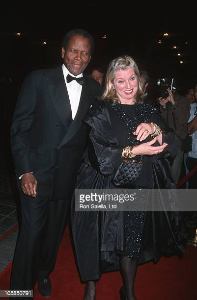 Sidney Poitier and Joanna Shimkus during 5th Annual Stars of Tomorrow Gala Benefit at The Beverly Wilshire Hotel in Beverly Hills California United...