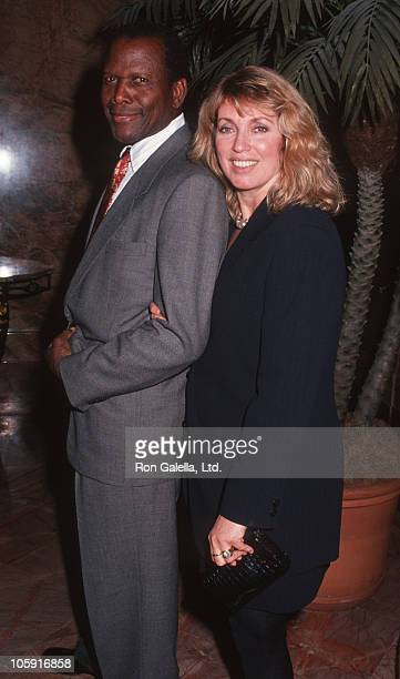 "Sidney Poitier and Joanna Shimkus during Book Party For ""Marry Me"" By Wendy Goldberg And Betty Goodwin at Home of Leonard Stern in New York, New..."
