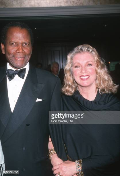 Sidney Poitier and Joanna Shimkus during One Giant Leap For Humanity Benefit For National Charities at Griffin Park in Los Angeles California United...