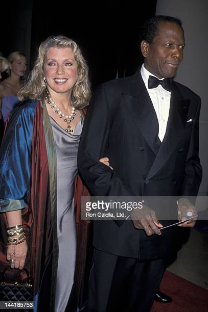 Sidney Poitier and wife Joanna Shimkus attend 20th Annual Carousel of Hope Ball Benefit on October 23 1998 at the Beverly Hilton Hotel in Beverly...