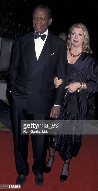 Sidney Poitier and wife Joanna Shimkus attend 32nd Annual NAACP Image Awards on March 3 2001 at the Universal Ampitheater in Universal City California