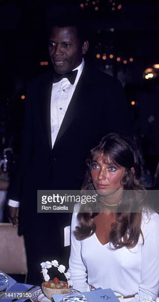Sidney Poitier and wife Joanna Shimkus attend Andrew Young Campaign Fundraiser on June 10 1970 at the Pierre Hotel in New York City