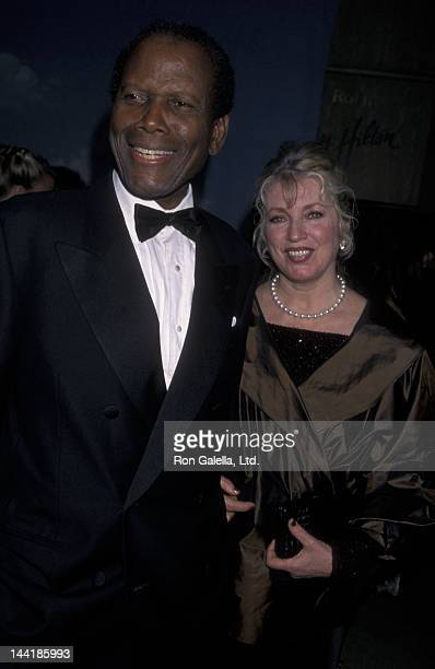 Sidney Poitier and wife Joanna Shimkus attend Carousel of Hope Ball Benefit on October 28 2000 at the Beverly Hills Hotel in Beverly Hills California