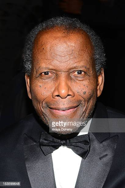 Sidney Poitier attends An Artful Evening at California African American Museum on October 6 2012 in Los Angeles California