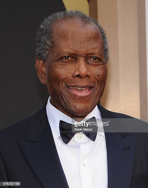 Sidney Poitier attends the Oscars held at Hollywood Highland Center on March 2 2014 in Hollywood California
