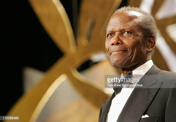 Sidney Poitier during 2006 Cannes Film Festival Opening Night Gala Inside at Palais de Festival in Cannes France