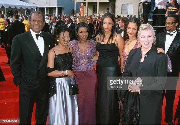 Sidney Poitier & Family during The 6th Annual Screen Actors Guild Awards at Shrine Auditorium in Los Angeles, California, United States.