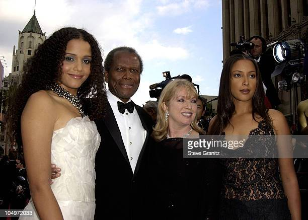 Sidney Poitier family during The 74th Annual Academy Awards Arrivals at Kodak Theater in Hollywood California United States