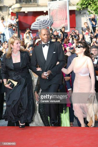 Sidney Poitier Juliette Binoche and Blythe Brown during 2006 Cannes Film Festival Opening Night Gala and World Premiere of The Da Vinci Code Arrivals...