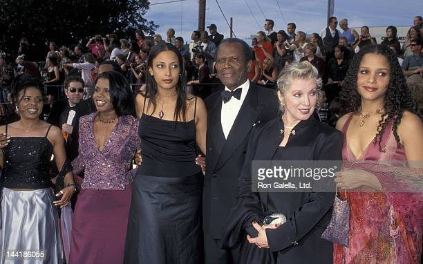 Sidney Poitier wife Joanna Shimkus and family attend Sixth Annual Screen Actors Guild of America Awards on March 12 2000 at the Shrine Auditorium in...