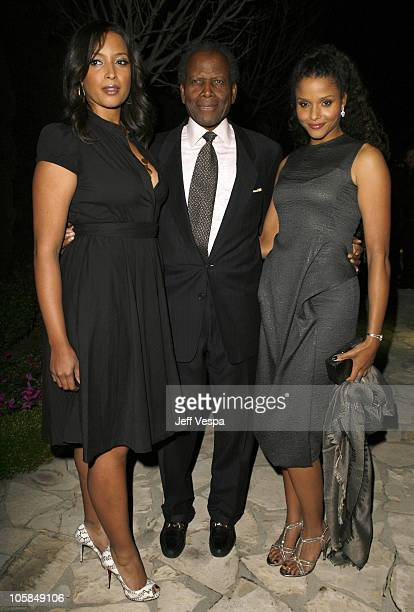 Sidney Poitier with daughters Anika Poitier and Sydney Tamiia Poitier