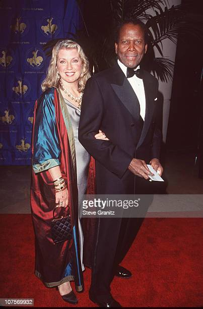 Sidney Poitier with his wife Joanna Shimkus during 13th Annual Carousel of Hope Ball Benefiting Childrens Diabetes at Beverly Hilton Hotel in Beverly...