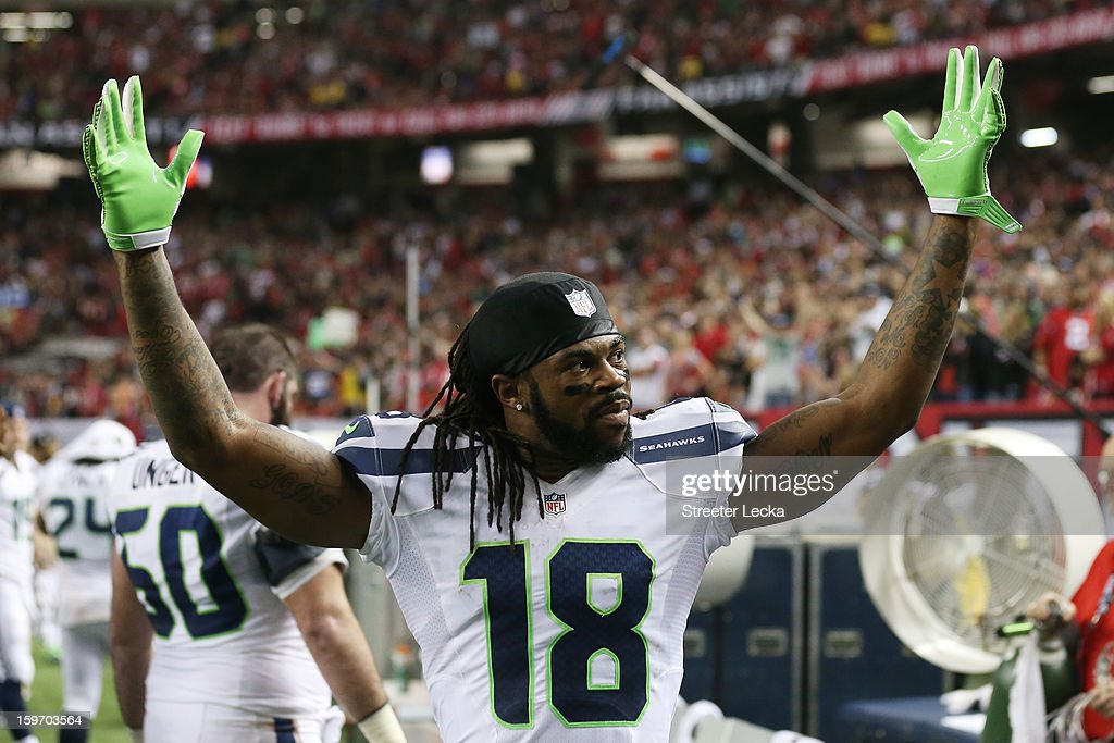 Divisional Playoffs - Seattle Seahawks v Atlanta Falcons : News Photo