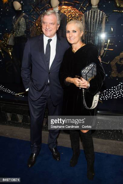 Sidney Toledano and Fashion designer Maria Grazia Chiuri attend Christian Dior Celebrates 70 Years of Creation At The Galeries Lafayette Haussmann on...