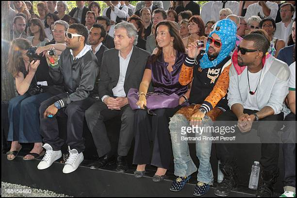 Sidney Toledano and his wife Katia Kanye West and guest at Dior Men Spring Summer 2009 Fashion Show