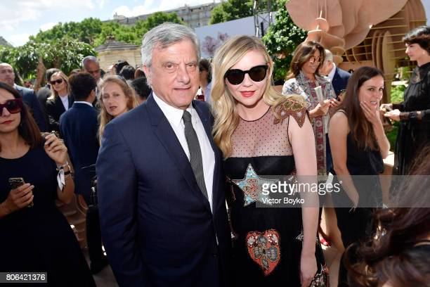 Sidney Toledano and Kirsten Dunst attend the Christian Dior Haute Couture Fall/Winter 2017-2018 show as part of Haute Couture Paris Fashion Week on...