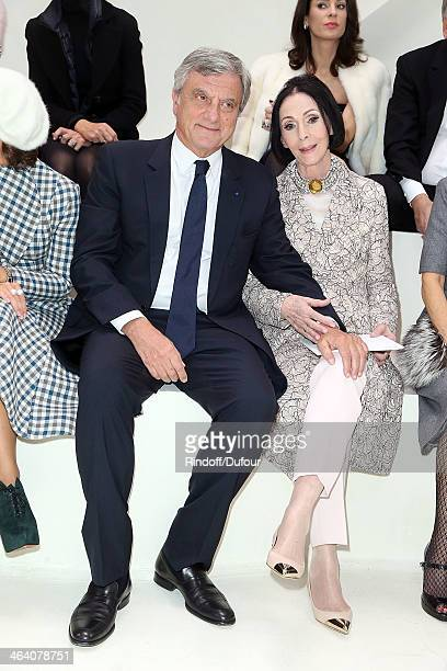Sidney Toledano and Kouka attend the Christian Dior show as part of Paris Fashion Week Haute Couture Spring/Summer 2014 on January 20 2014 in Paris...