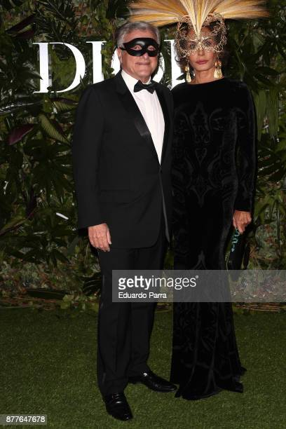 Sidney Toledano and Nati Abascal attend Dior Ball photocall at the Santona Palace November 22, 2017 in Madrid, Spain.