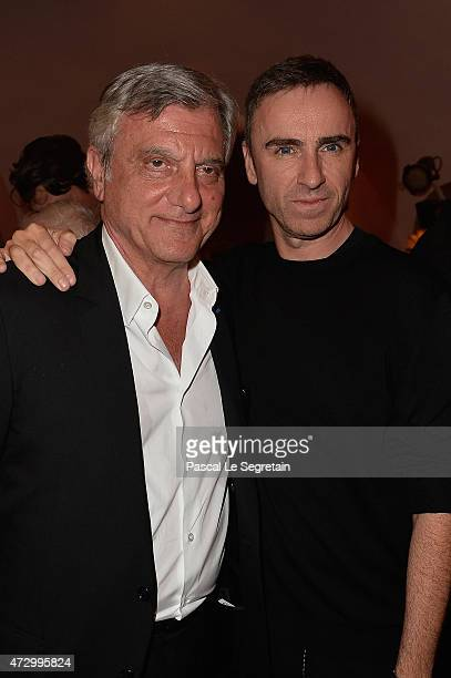 Sidney Toledano and Raf Simons attend the Dior Croisiere 2016 at Palais Bulle on May 11 2015 in Theoule sur Mer France