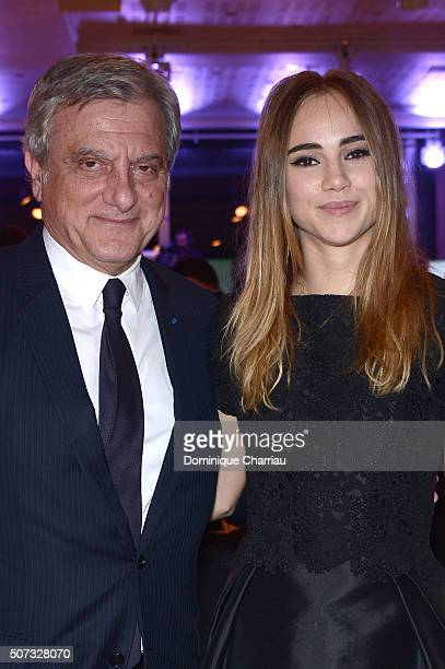 Sidney Toledano and Suki Waterhouse attend the Sidaction Gala Dinner 2016 as part of Paris Fashion Week on January 28, 2016 in Paris, France.