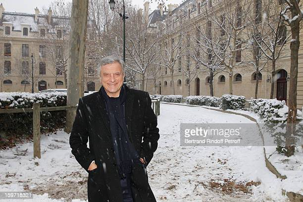 Sidney Toledano arrives at Quartier des Celestins, the headquarters of the General Staff of the Republican Guard, to attend the Dior Homme Men Autumn...