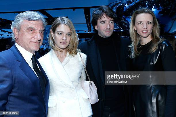 Sidney Toledano Christian Dior Couture President and CEO Natalia Vodianova Antoine Arnault and Delphine Arnault attend the Christian Dior Fall/Winter...
