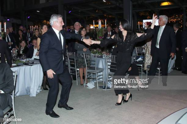 Sidney Toledano dancing with Marie Drucker, Maurice Levy and guests attend the Gala evening of the Pasteur-Weizmann Council at Pavillon Gabriel on...
