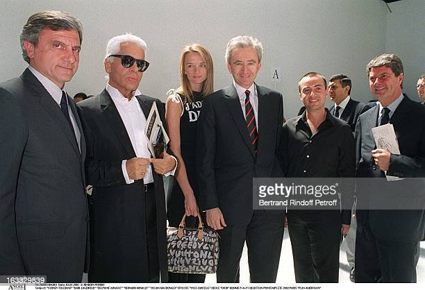 Sidney Toledano Karl Lagerfeld Delphine Arnault Bernard Arnault Julian Macdonald Styliste Yves Carcelle at theDior Catwalk Meanswear PAP Collection...