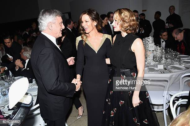 Sidney Toledano Kate Beckinsale and Haley Bennett attend the 2016 Guggenheim International Gala Made Possible By Dior at Solomon R Guggenheim Museum...
