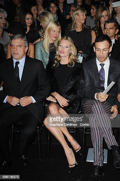 Sidney Toledano Kate Moss and Alexis Roche attend the Christian Dior show as part of Paris Fashion Week Spring/Summer 2011 in Paris